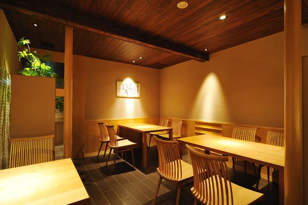 店舗改装(町家):六味一滴 石川 金沢 1階店内