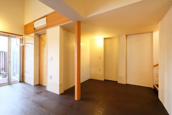 バリアフリー住宅 新築:考える家 石川 金沢 引き戸